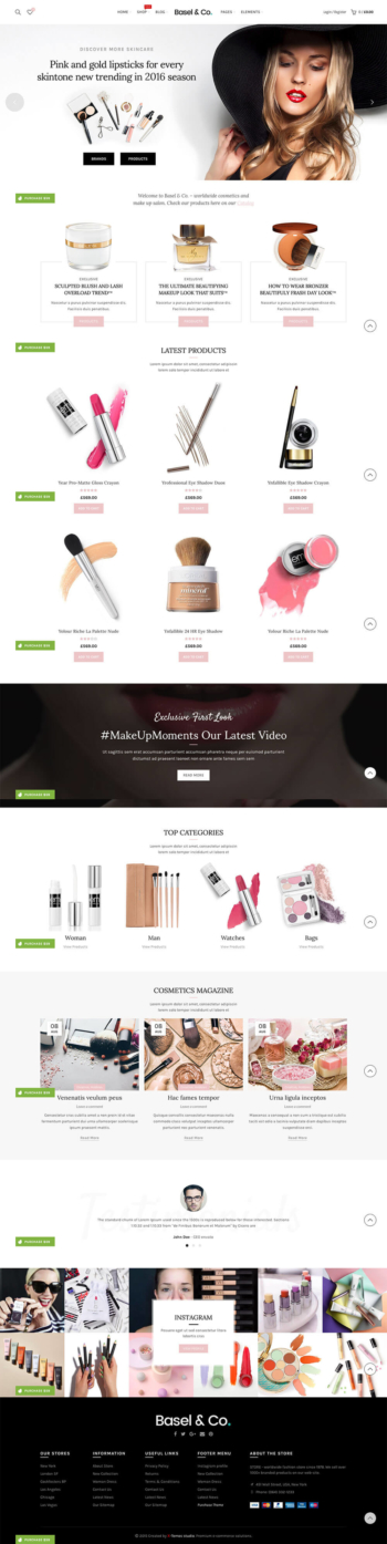Web mỹ phẩm