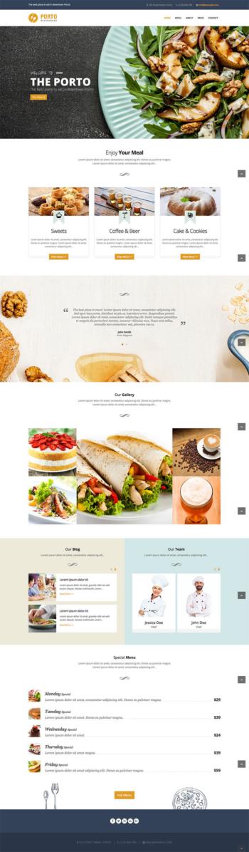 Web nhà hàng
